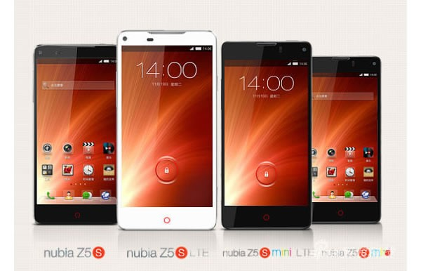 ZTE launches Nubia Z5S and Z5S Mini smartphones