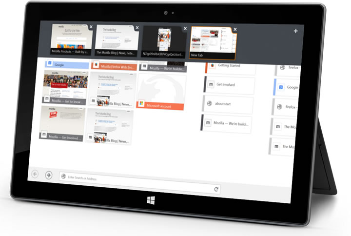 Firefox for Windows 8 touch beta released