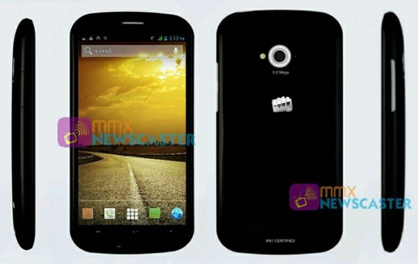 Micromax Splash is a water and dust resistant phone