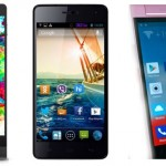 Compare: Karbonn Titanium Octane Plus vs Micromax Canvas Knight vs Gionee Elife E7 mini
